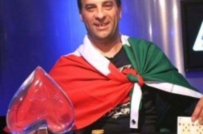 Głowny Turniej EPT Praga, Finał: Bonavena Pierwszym Włoskim Mistrzem EPT 0001