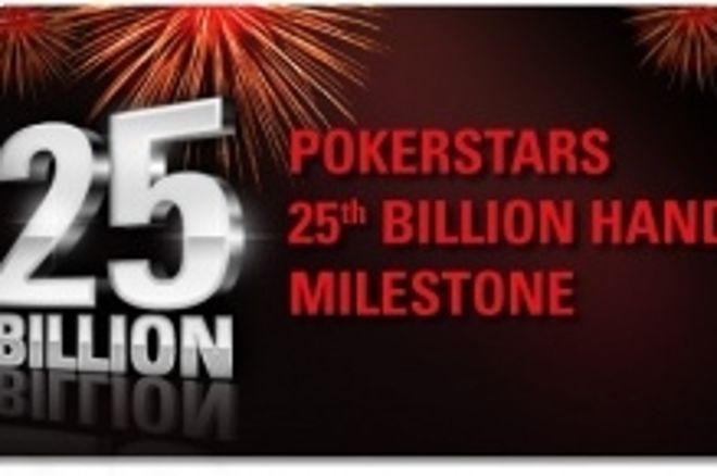 PokerStars 25 milliarder handen endte i deling! 0001