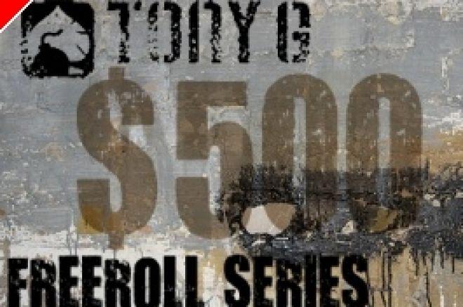 Freerolle z Pulą $500 Co Tydzień Na Tony G Poker 0001