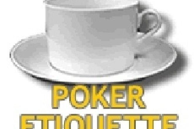 Pokerietiketti – pöytätavat pokerissa 0001