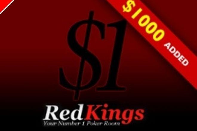 Täna taas hiiglaslik overlay turniir RedKings pokkeritoas: $1+0,1$ turniir, $1000 added! 0001
