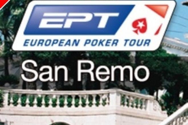 EPT San Remo 2009 dag 1B - Luske, Thierry en RaSZi door naar dag 2 0001