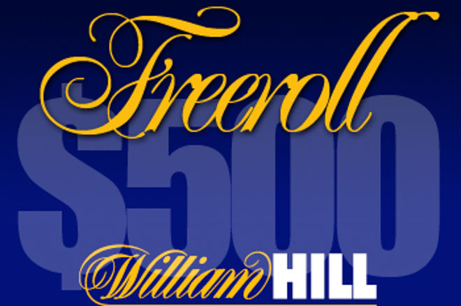 William Hill levererar en $500 freerollserie till PokerNews spelare 0001