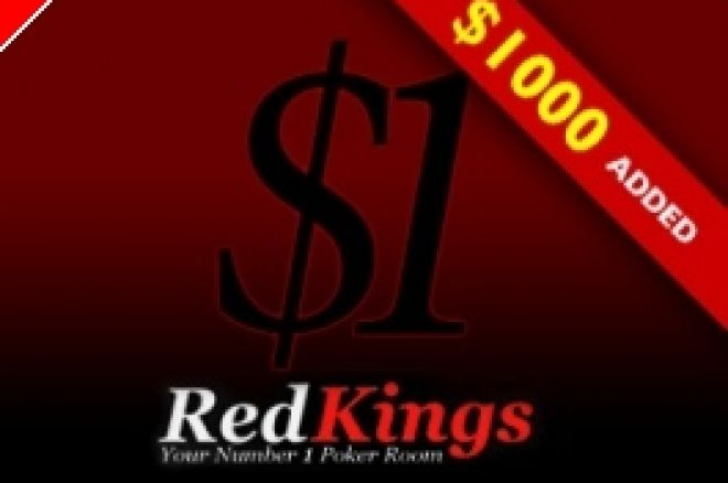 Zahrajte si PokerNews Weekly Tournament u RedKings Poker - $1 Buy-in s přidanými 1000... 0001