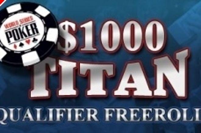 Torneos clasificatorios PokerNews con premio de 1.000 dólares en Titan Poker 0001