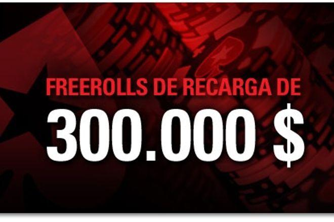 Freerolls de Recarga de 300.000 $ en PokerStars 0001