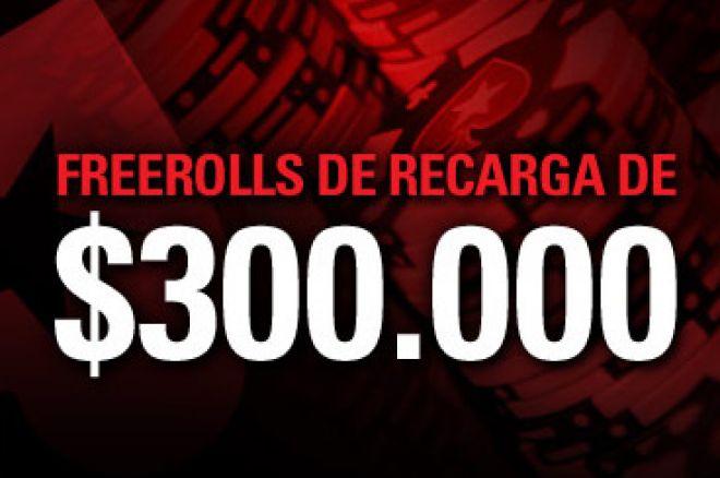 Freerolls de Recarga de $300.000 na PokerStars 0001
