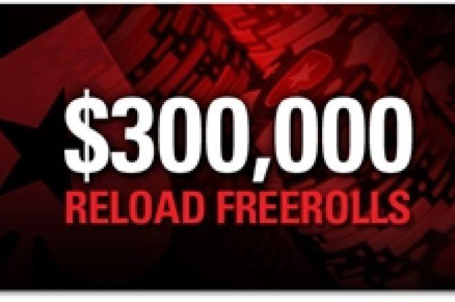PokerStars reload kampaania: $300.000 väärtuses freerolle juunis! 0001