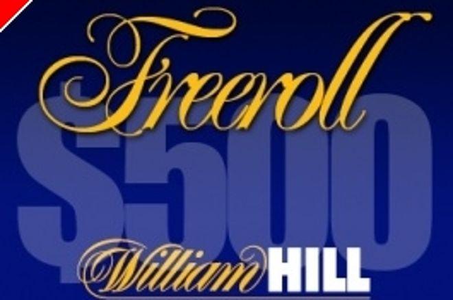 En exclusiva para PokerNews, freerolls con premio de 500$ en William Hill 0001