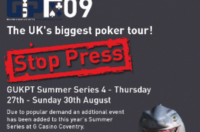 GUKPT Coventry Announced, Channing Confirms Akenhead Percentage 0001