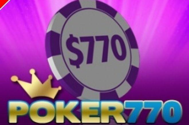 Torneios Semanais $770 Cash Freeroll na Poker770 0001