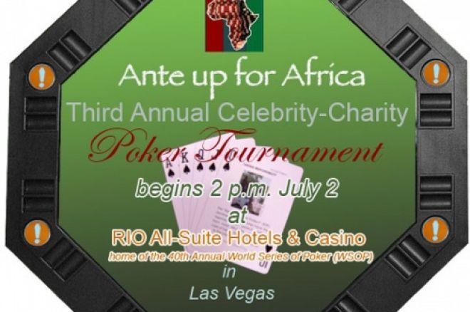 Ante Up for Africa toernooi uitgezonden op ESPN 0001