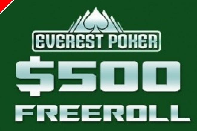 $500 PokerNews Cash Freerolls na Everest Poker 0001