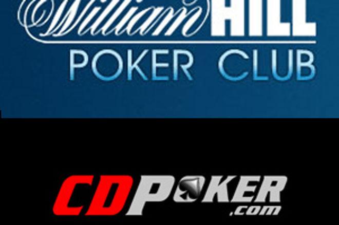 Hoje às 19:45 $2,000 em Dinheiro e Tickets $100K GTD em Jogo na William Hill e CD Poker 0001