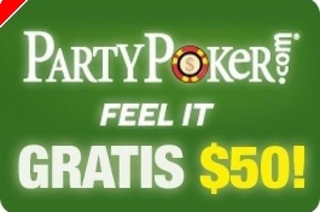 $50 GRÁTIS na PartyPoker - Não Precisa Depositar! 0001