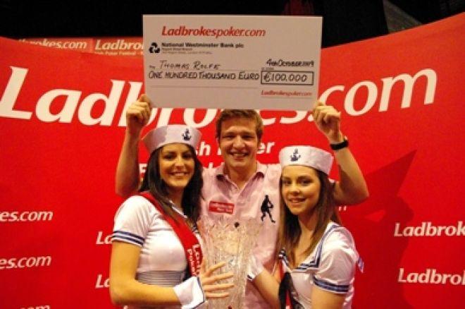 Thomas Rolfe wins Ladbrokes Irish Poker festival 0001