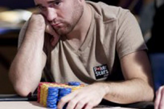 PokerStars European Poker Tour London 4. nap - Aaron Gustavson a chip leader 0001