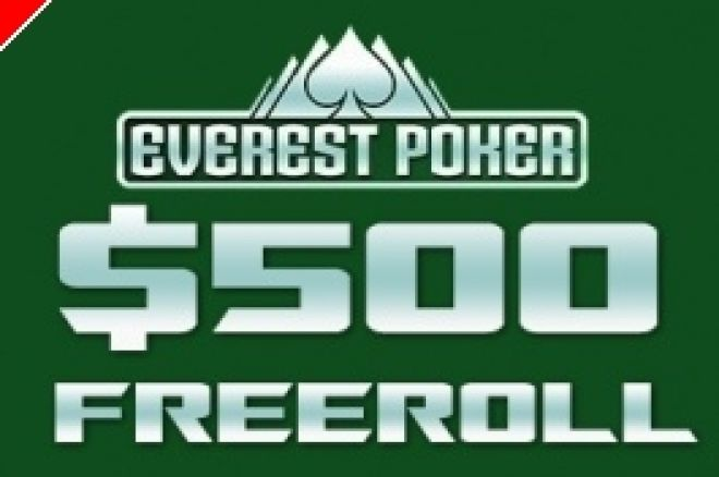 $500 PokerNews Cash Freerolls na Everest Poker 0001