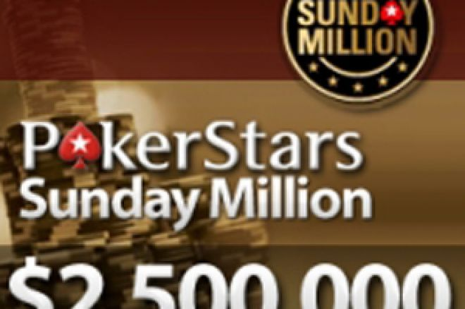 Sunday Million com Prizepool Garantido de $2,500,000 0001