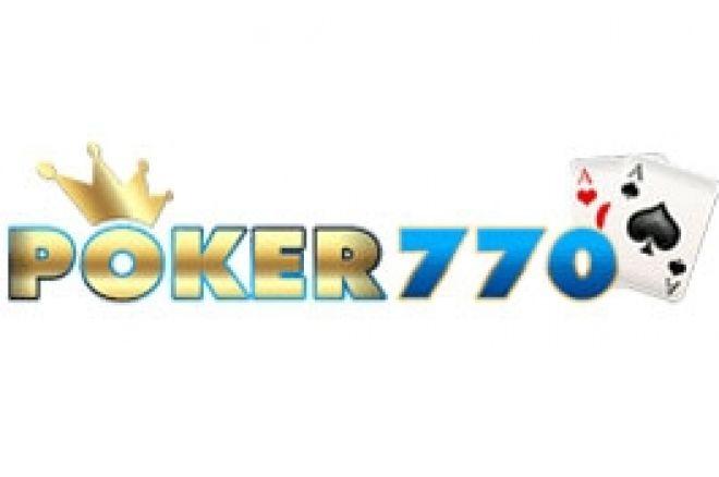Freeroll de 770$ en premios en efectivo en Poker770 0001