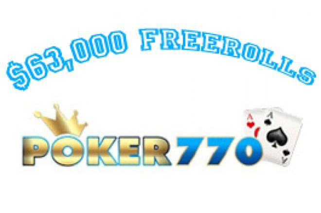 poker 770 cash freerolls pokernews
