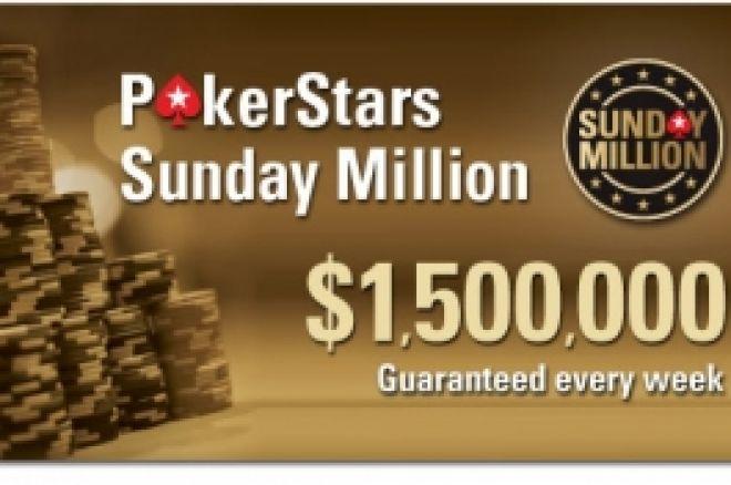Днес от 19:30 - PokerNews сателит за Sunday Million ($2 милиона... 0001