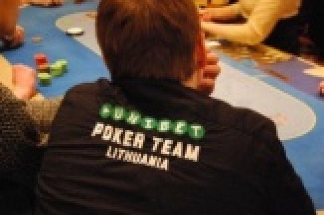 Unibet Pokerio Savaitgalis - 1B diena. Ankstyvi iškritimai ir lyderių dešimtukas 0001