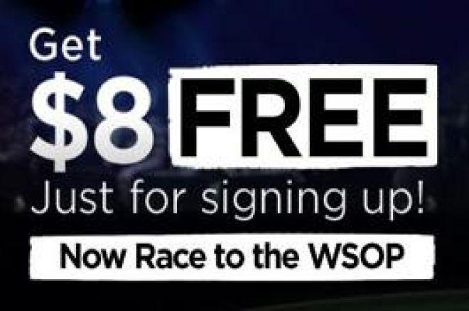 888 Poker - $8 gratis poker penger