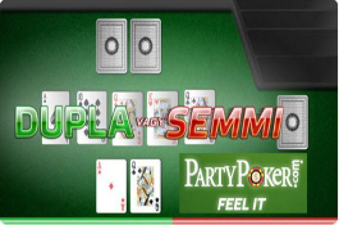 Napi $10.000 nyeremény a Dupla vagy Semmi promócióban a PartyPoker termében 0001