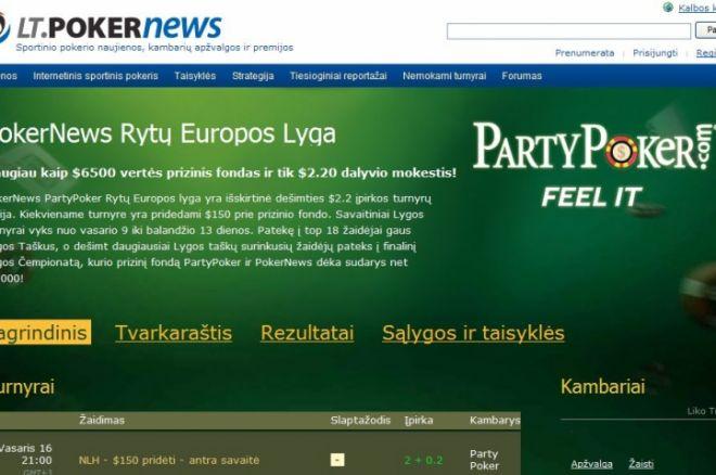 Prieš aštuntąjį PokerNews Rytų Europos pokerio lygos etapą - du lietuviai top... 0001