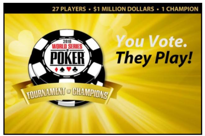 WSOP organiseert Tournament of Champions; stem nu voor Rob Hollink en Marc Naalden