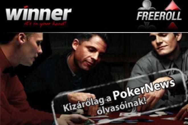 Most vasárnap PokerNews Super 10K Freeroll a Winner Poker termében! 0001
