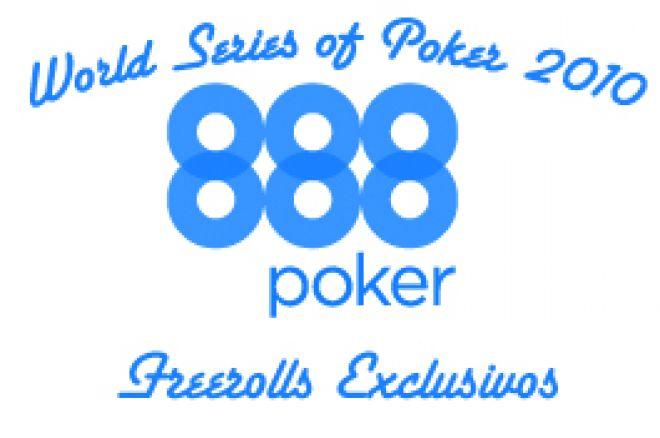 $25,000 em Freerolls Exclusivos WSOP na 888 Poker 0001