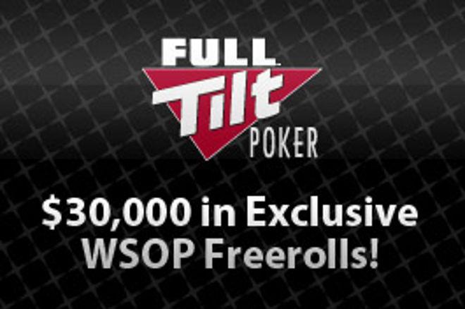 Poslední šance kvalifikovat se do freerollů o $30,000 na Full Tilt Poker 0001