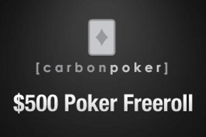 $500现金免费锦标赛系列就从Carbon Poker开始 0001