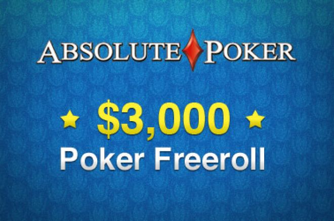 $3,000 Ekslusiv Freeroll Hos Absolute Poker 0001