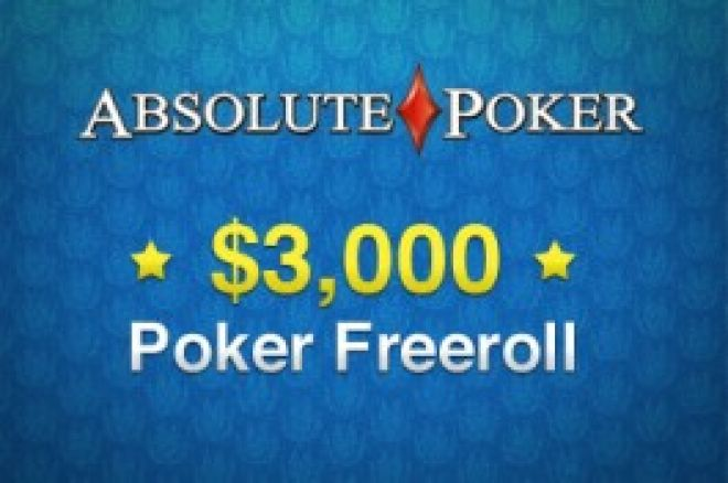 $1,500 Cash Freeroll at Absolute Poker 0001