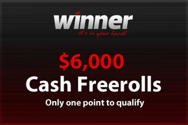 6000$-os Cash Freeroll a Winner Poker-en! 0001