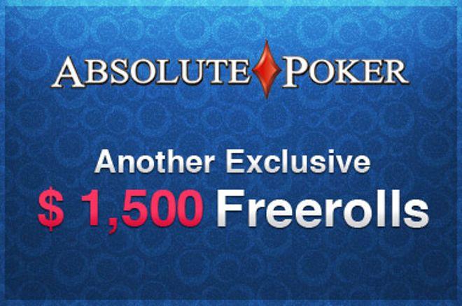 1500$ Exkluzív Freerollok az Absolute Poker-en! 0001