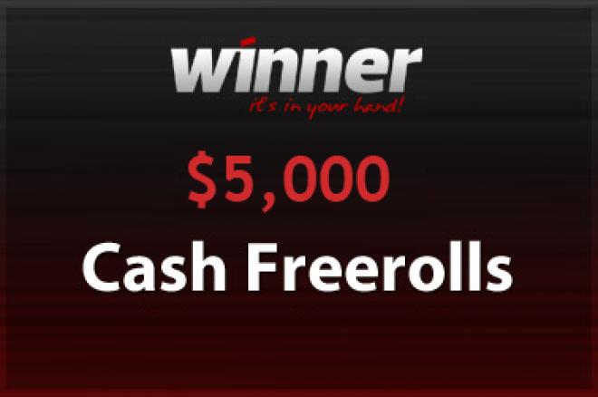 $5,000 Cash Freeroll on Winner Poker 0001