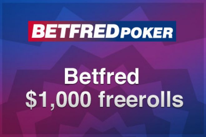 Ny $1,000 freeroll turnering hos Betfred Poker 0001