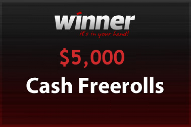 Ny $5.000 freeroll turnering hos Winner Poker 0001