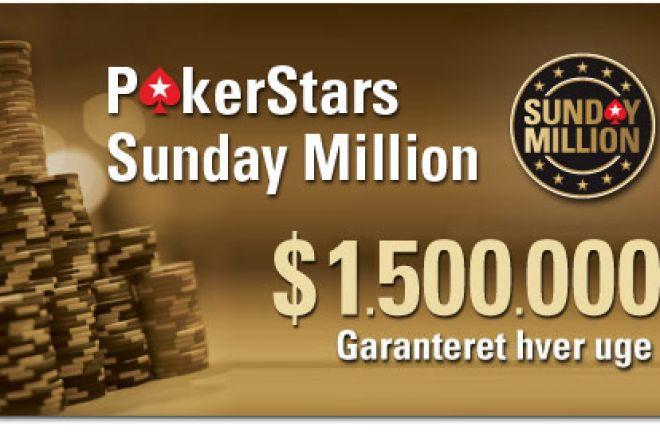 Dansk 2. plads i Sunday Million 0001