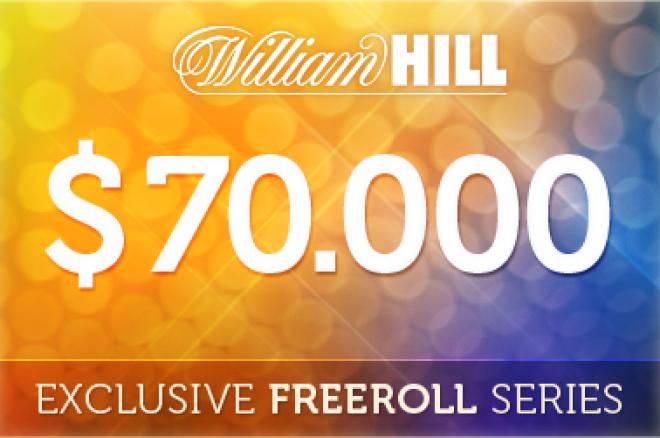 $70,000 i Club PokerNews freeroll turneringer fra William Hill Poker - kvalifisering til... 0001