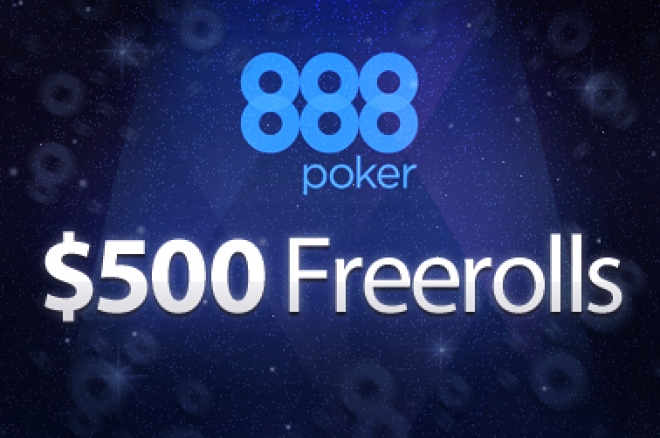 Freeroll Exclusivo de $500 na 888 Poker 0001