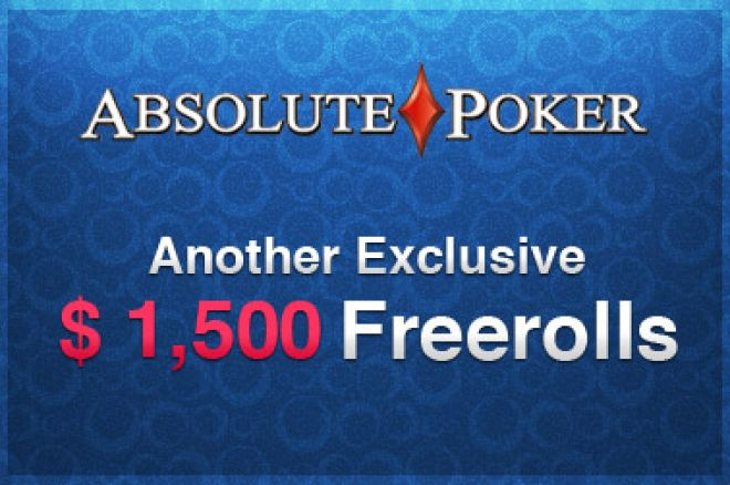 Os Freerolls de $1,500 Voltaram ao Ultimate Bet e ao Absolute Poker - Deposite e Jogue! 0001