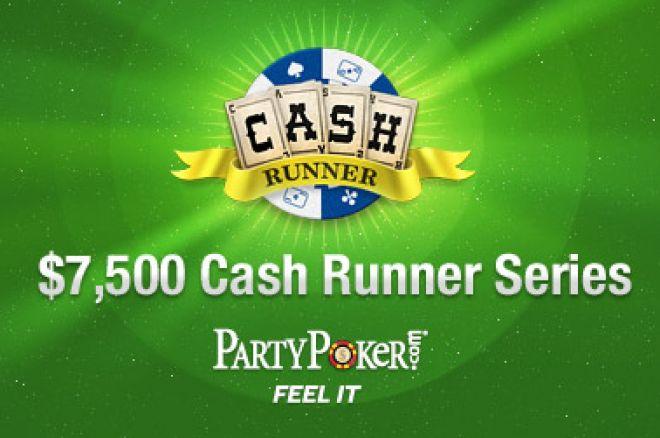 PartyPoker Starter En Ny $7.500 Cash Runner Serie 0001