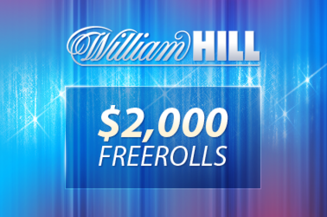 William Hill $2,000 freeroll turnering - torsdag 21.oktober – super enkel kvalifisering 0001