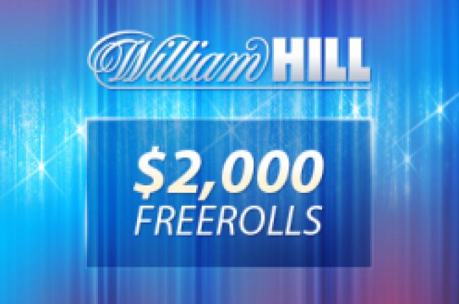 Siste William Hill $2.000 Freeroll starter i kveld kl 19:35 GMT - Veldig enkle... 0001
