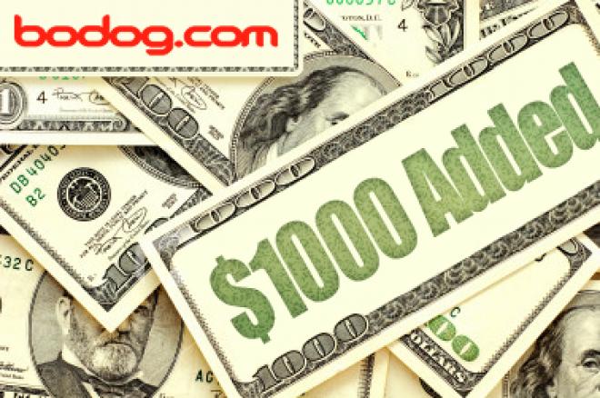 Siste PokerNews $1k åpne turnering hos Bodog er på søndag 31.oktober 0001